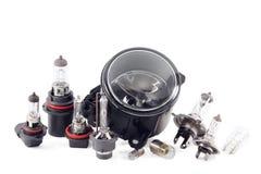 Xenon- och halogenlampor. Royaltyfria Foton