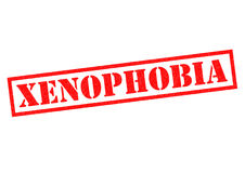 XENOPHOBIA. Red Rubber Stamp over a white background Stock Photography