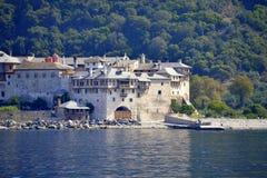 Xenophon klostermontering Athos Greece Arkivbilder