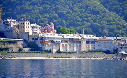 Xenophon Monastery Mount Athos  Greece Royalty Free Stock Photography