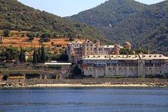 Xenophontos kloster, Mount Athos, Grekland Arkivbilder