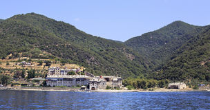 Xenophontos monastery. Holy Athos. Royalty Free Stock Images