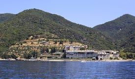 Xenophontos monastery. Holy Mount Athos. Stock Image