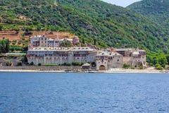 Xenophontos monastery on Mount Athos, Greece Stock Image