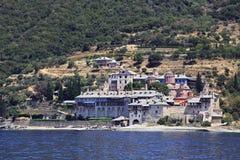 Xenophontos monastery. Mount Athos. Royalty Free Stock Photography