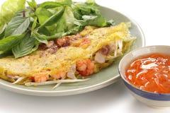 Xeo di Banh, cucina vietnamita Fotografie Stock