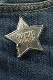 Xerife Badge Foto de Stock