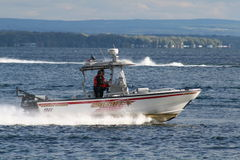 Xerife Boat no lago Imagem de Stock Royalty Free