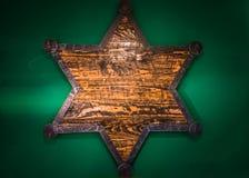 Xerife de madeira Star imagem de stock royalty free