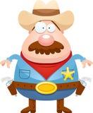 Xerife Mustache dos desenhos animados ilustração do vetor