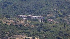 Xeropotamou monastery. Holy Mount Athos. stock video