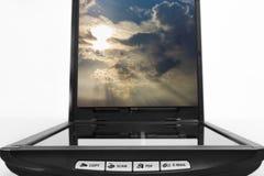 Xerox  business. Xerox scanner business sunset sky Stock Photography