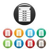 Xerox icons set color royalty free illustration