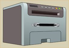 XEROX + PRINTER + SCANNER SAMPLE. Color image of an electronic digital device for scanning, copying and printing Stock Photography