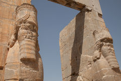 Xerxes门户, persepolis,伊朗 库存照片
