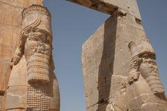 Xerxesgateway, persepolis, Iran Stock Foto's