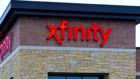 Xfinity Retail Store Exterior and Sign stock video footage