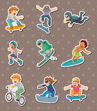 Xgame stickers Royalty Free Stock Photos