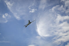 XH558 Avro Vulcan Bomber in Flight Royalty Free Stock Image
