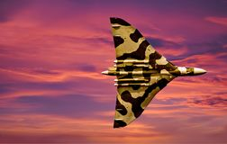 XH 558 The Vulcan Bomber royalty free stock photo