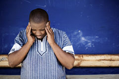 Xhosa man in pain. Royalty Free Stock Images