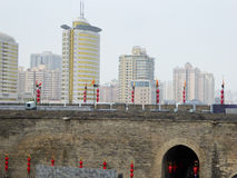 The Xi'an Circumvallation Exterior wall Royalty Free Stock Photography