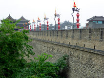 The Xi'an Circumvallation Exterior wall Royalty Free Stock Photos