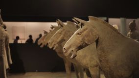 XI'5月30日2012年:西安的著名赤土陶器战士, 影视素材