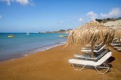 XI在海岛Kefalonia上的海滩在希腊 免版税库存照片