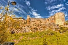 XI守卫村庄的世纪堡垒在意大利乡下 库存照片