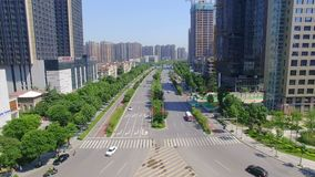 XI. «, Chiny, 16 2017 Maj, antena strzelał pejzażu miejskiego i miasta linia horyzontu przy, XI. «, Chiny zdjęcie wideo