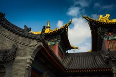 ` XI архитектура виска Guangren старая китайская Стоковое Фото