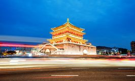 Xi`an Bell Tower Night View Royalty Free Stock Photos
