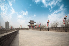 Xi'an ancient city wall Stock Images