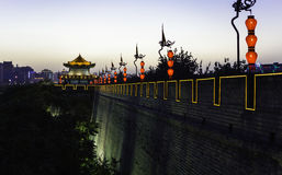 Xi'an ancient city wall Royalty Free Stock Images