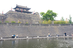 Xi'an Ancient City Wall Royalty Free Stock Photo