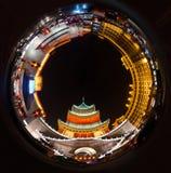 Xi'anklok en Trommeltoren royalty-vrije stock foto