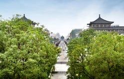 Xi `, arquitetura da cidade de China Imagem de Stock Royalty Free