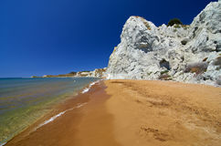 Xi Beach in Kefalonia island. Greece. Xi Beach in Kefalonia island; Kefalonia island, Greece Stock Image