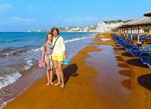 Xi Beach morning view (Greece, Kefalonia). Royalty Free Stock Photo
