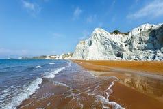 Xi Beach morning view (Greece, Kefalonia). Stock Photography