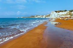 Xi Beach morning view (Greece, Kefalonia). Stock Images
