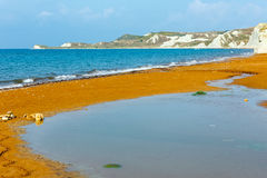 Xi Beach morning view (Greece, Kefalonia). Royalty Free Stock Images