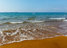 Xi Beach morning view (Greece, Kefalonia). Stock Photos