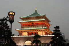 Xi'an Bell Tower. Famous Bell Tower in ancient capital of China Stock Images