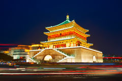 Xi'an Bell Tower_night Obrazy Royalty Free
