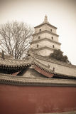 Xi'an big wild goose pagoda Royalty Free Stock Images