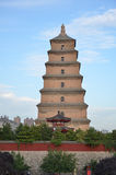 Xi'an Big Wild Goose Pagoda Buddhist Historic Buildings Royalty Free Stock Images