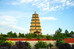 Xi'an Big Wild Goose Pagoda Buddhist Historic Buildings Stock Images