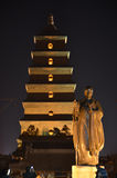 Xi'an Big Wild Goose Pagoda Buddhist Historic Buildings Royalty Free Stock Photos
